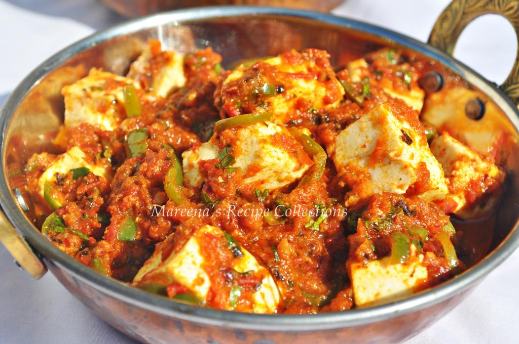 Kadai Paneer Cottage Cheese With Capsicum In Tomato Gravy