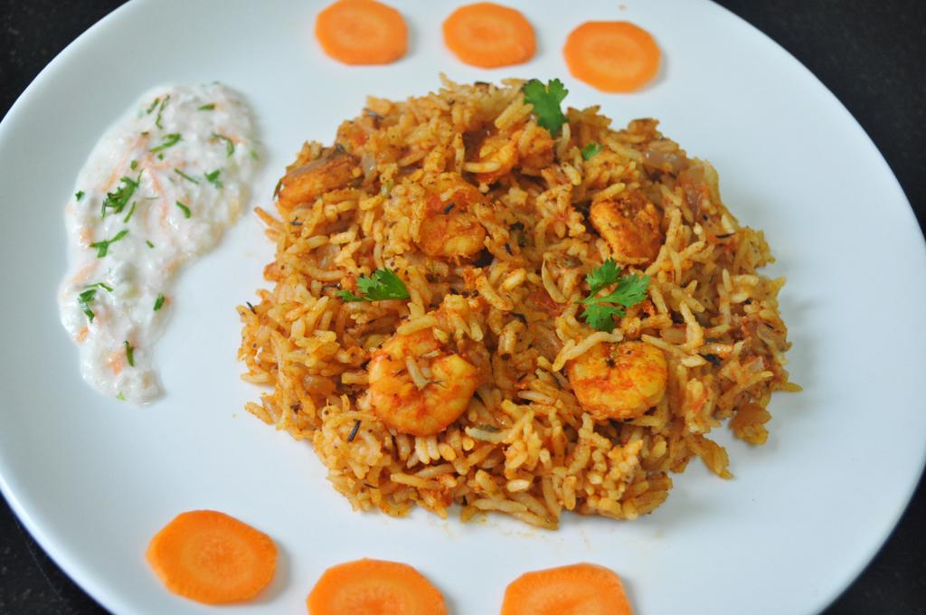 Spicy Prawn Biryani Recipe | Mareena's Recipe Collections