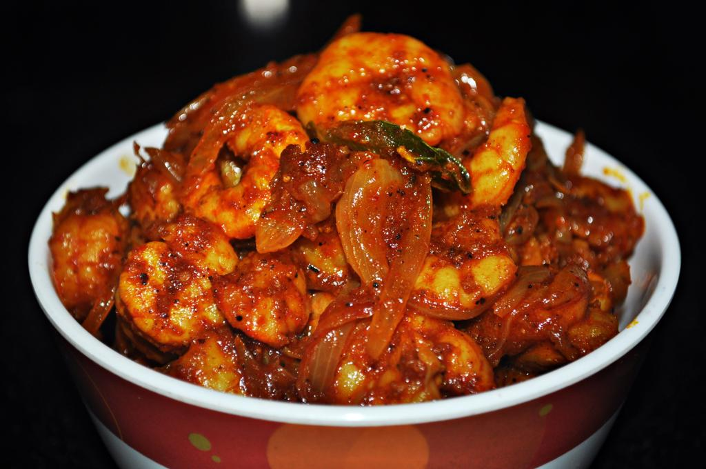 Karaikudi Eral Prawn Masala Recipe Mareena S Recipe Collections